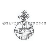 Sandra Evertson | Globus - SE6023D - Rubber Art Stamp