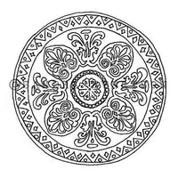 Sandra Evertson | Mandala - SE6028H - Rubber Art Stamp