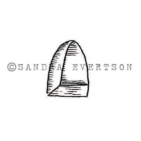 Sandra Evertson | Niche - SE6031B - Rubber Art Stamp