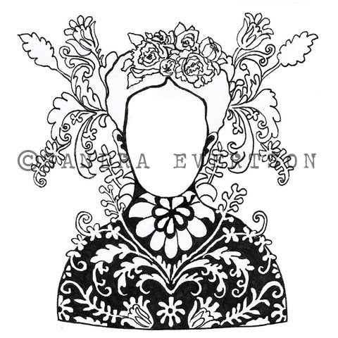 Sandra Evertson | Pangaea - SE6035L - Rubber Art Stamp