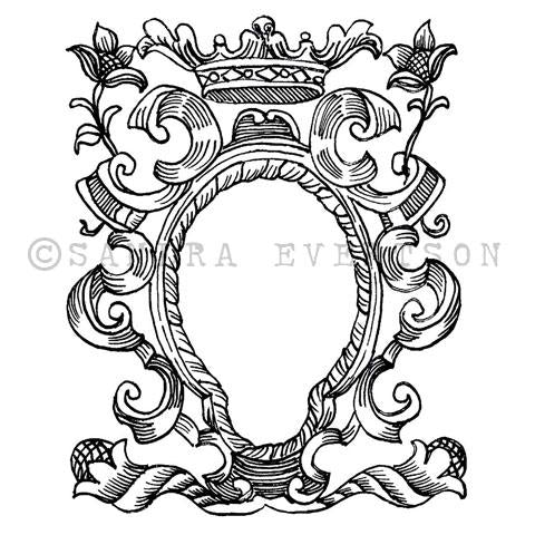 Sandra Evertson | SE7100L - Ethereal - Rubber Art Stamp