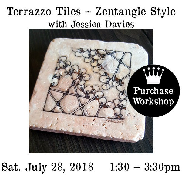 Workshop |  Terrazzo Tiles – Zentangle Style with Jessica Davies