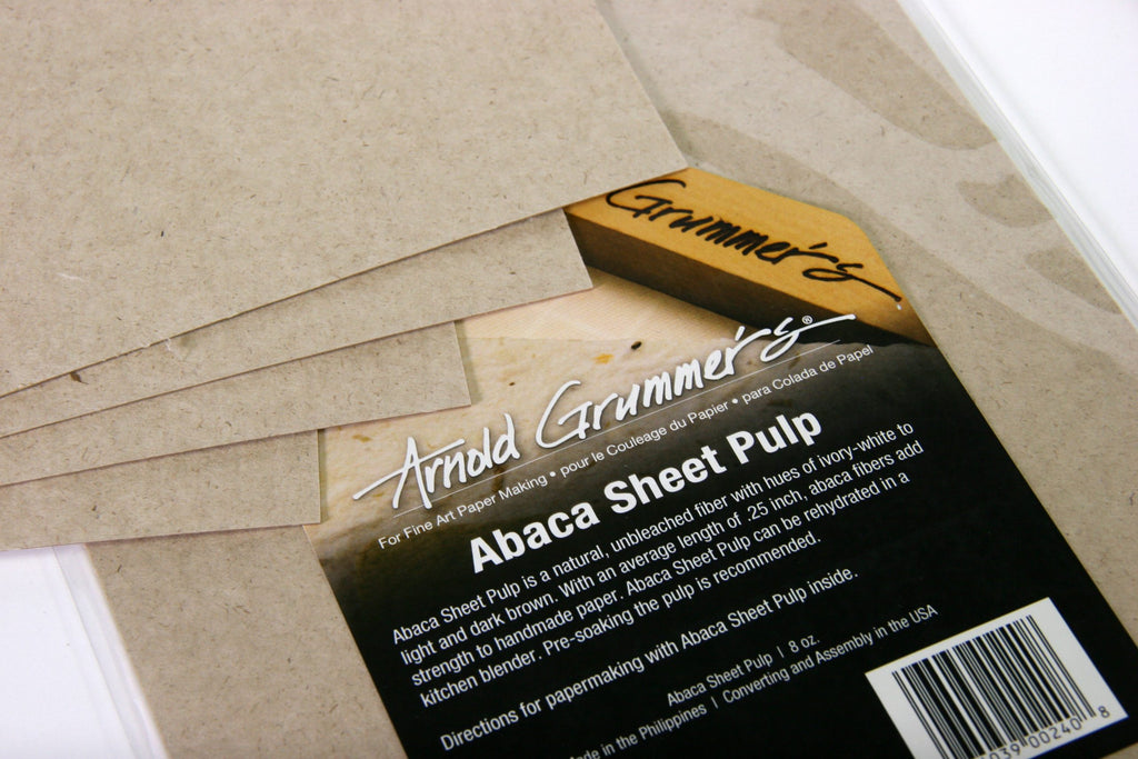 "Abaca Sheet Pulp: 8"" x 12"" pieces (8oz)"