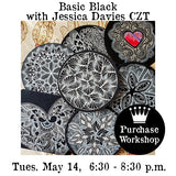 Workshop |  Zentangle: Basic Black  with Jessica Davies