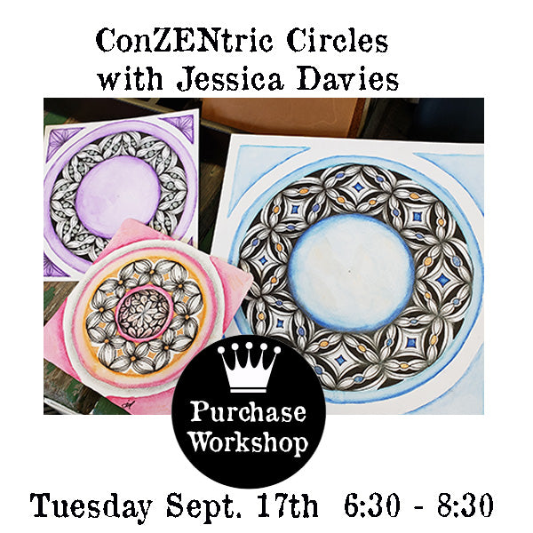 Workshop |  ConZENtric Circles with Jessica Davies