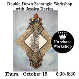 Workshop | Double Down-Zentangle  with Jessica Davies