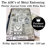 Workshop | Pewter Journal Cover with Elitia Hart