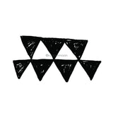 Elizabeth St. Hilaire | ES7635L - Klimt Triangles - Rubber Art Stamp