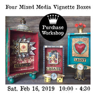 Workshop | Four Mixed Media Vignette Boxes with Dee Gray