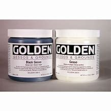 Golden - White & Black Gesso -  8oz. Jar