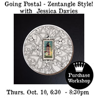 Workshop | Going Postal - Zentangle Style! with Jessica Davies