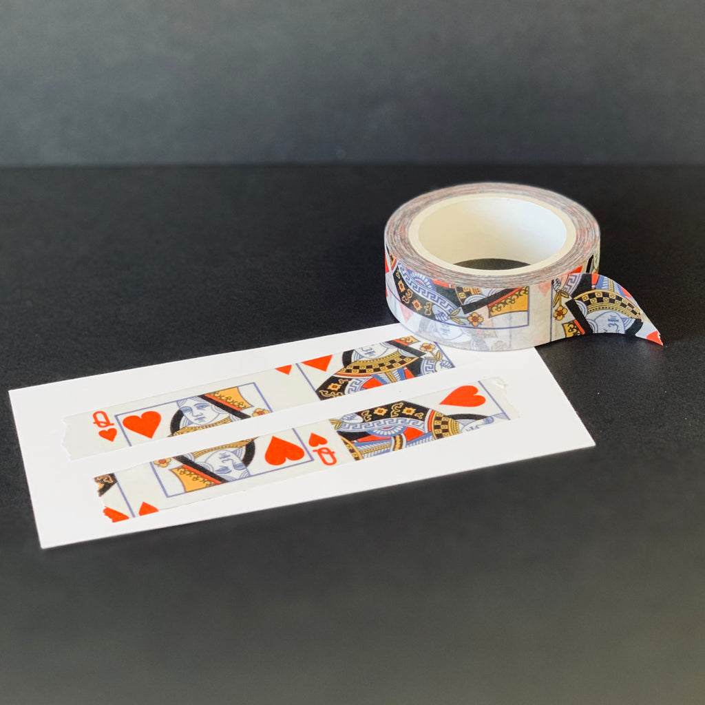 "The Queen's Very Own Washi Tape | ""Queen of Hearts"""