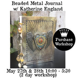 Workshop | Beaded Metal Journal with Katherine England
