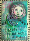 RubberMoon - New Moon | KP5009F - Rubber Art Stamp