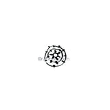 Kae Pea | KP7616C - Imperfect Tie Dye - Rubber Art Stamp