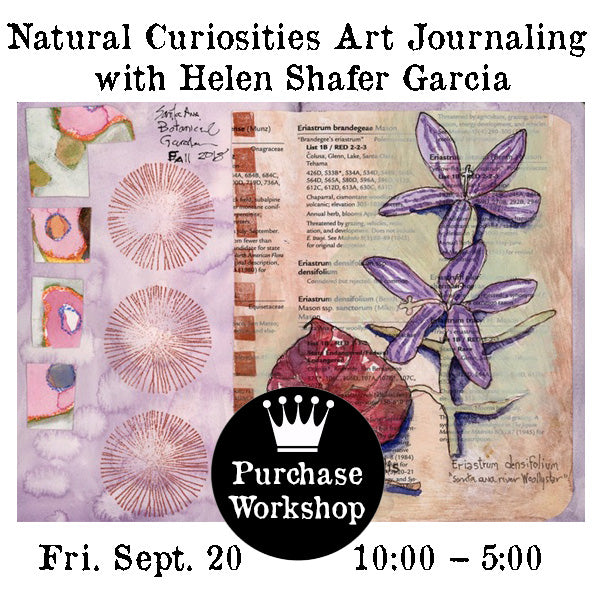 Workshop | Natural Curiosities Art Journaling with Helen Shafer Garcia