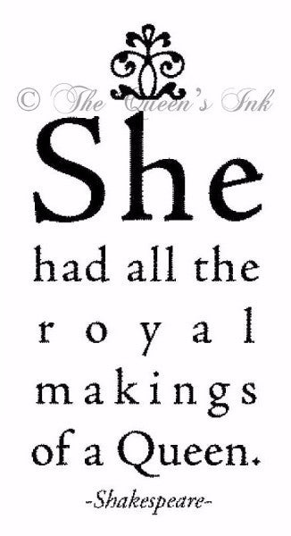 "Her Majesty - ""Royal Makings..."" - Rubber Art Stamps"