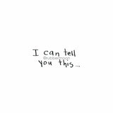 "Sunny Carvalho | SC7770E - ""I Can Tell You This"" - Rubber Art Stamp"