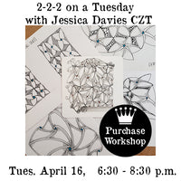 Workshop |  Zentangle: 2-2-2 on a Tuesday with Jessica Davies