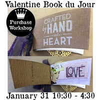 Workshop | Handmade With Love: Mini Valentine Book du Jour