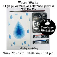Workshop | WaterWorks 14 Page Watercolor Reference Journal with Kae Pea