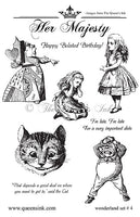 Her Majesty - Wonderland Set #4 - Rubber Art Stamps