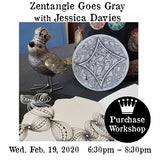 Workshop | Zentangle Goes Gray with Jessica Davies