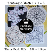 Workshop |  Zentangle Math  1 + 1 = 8  with Jessica Davies