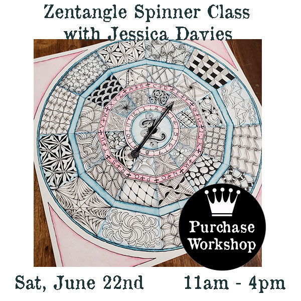 Workshop | Zentangle Spinner Class with Jessica Davies