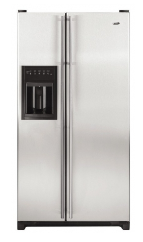 Amana AC2224GEKS 22 Cu Ft Counter Depth Stainless Steel Refrigerator Side  by Side