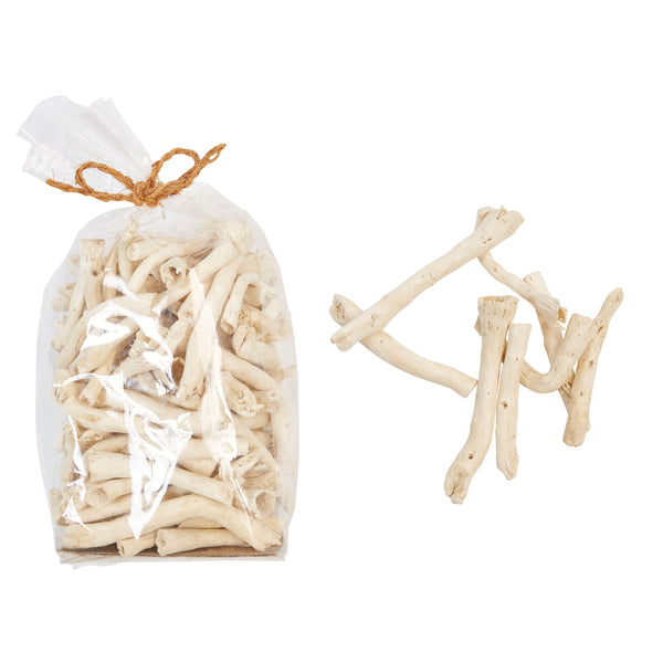 Dried Natural Cauliflower Root in Bag, Bleached