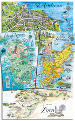 Anne Gardner's Hand Drawn Tourist Map Collection