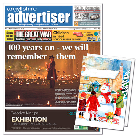 Argyllshire Advertiser Digital Subscription Gift Cards
