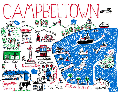 Campbeltown Landmarks greetings card