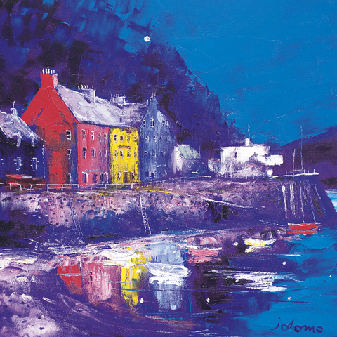 Jolomo Card - Busy Day, Tobermory, Mull