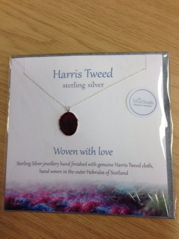 Harris Tweed Necklace-Red Tweed
