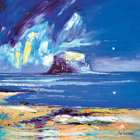 Jolomo Card - Light Rain on the Bass Rock