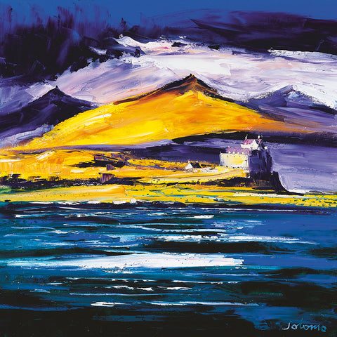 Jolomo Card - Autumn Light, Duart Castle. Isle of Mull