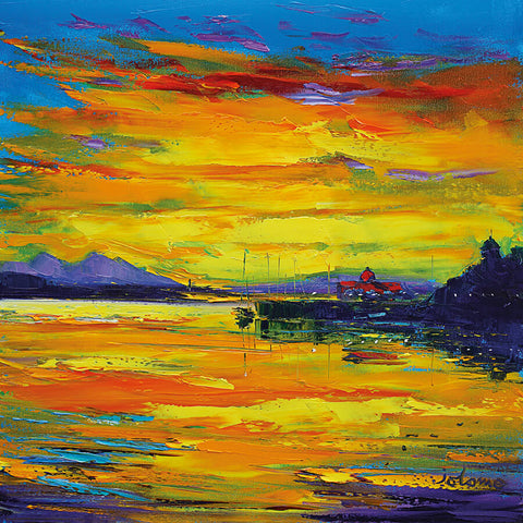 Jolomo Card - Evening Light North Pier Oban