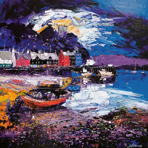 Jolomo Card - Stormy Evening, Tobermory, Isle of Mull