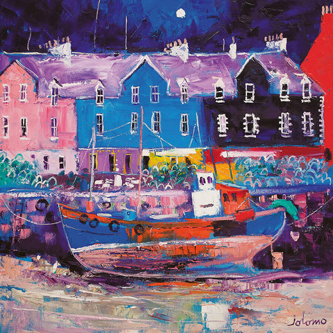 Jolomo Card - Beached Fishing Boat, Tobermory, Isle of Mull