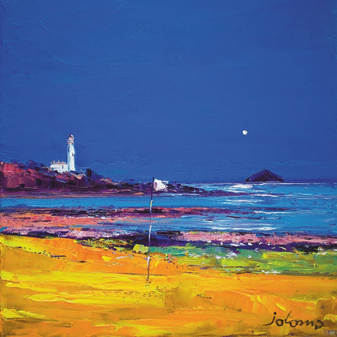 Jolomo Card - Moon over Turnberry and Ailsa Craig