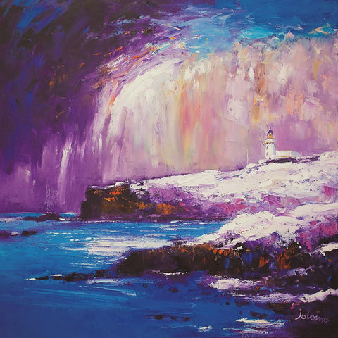 Jolomo Card - Heavy Snow on Todhead Lighthouse, Aberdeenshire