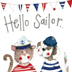 Alex Clark Card, Hello Sailor