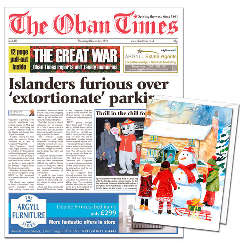 Oban Times & Lochaber Times Digital Subscription Gift Cards