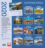 Scottish Field Deluxe Large Calendar 2020