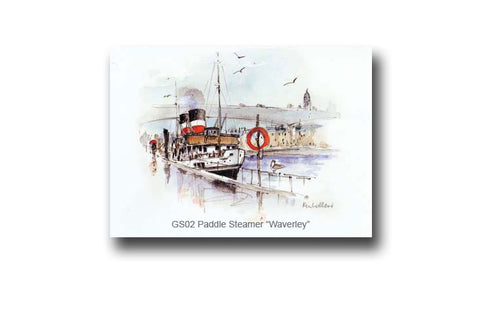 Ken Lochhead - The Paddle Steamer 'Waverely' River Clyde, Glasgow