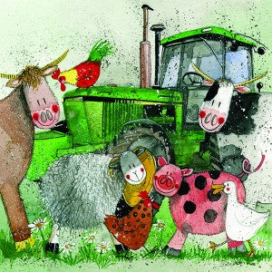 Alex Clark Card, Big Green Tractors & Farm Animals