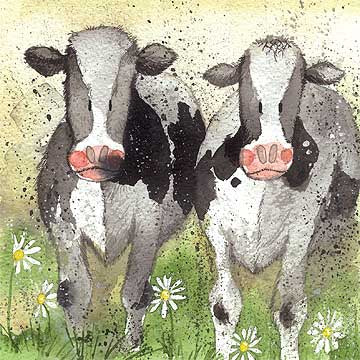 Alex Clark Card, Curious Cows