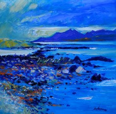 Jolomo Card - Evening Light on Arran from Inchmarnock